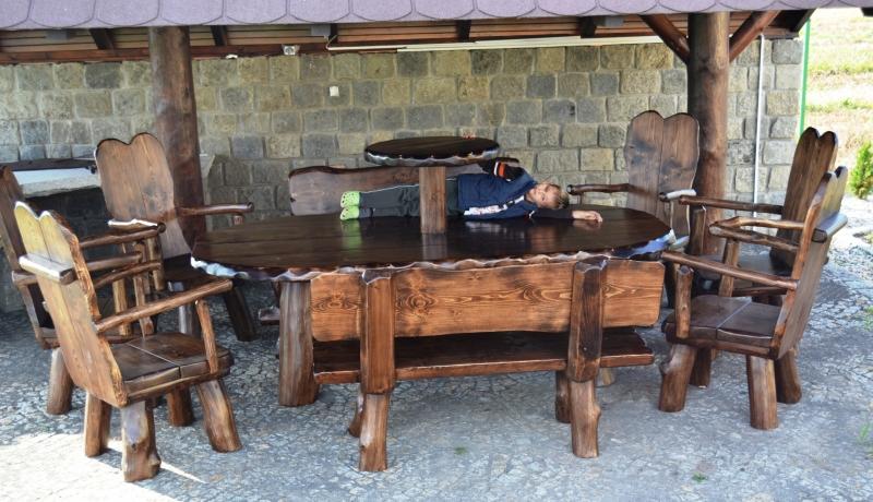 Meble ogrodowe, drewniane, komplety  Łaciak - producent mebli